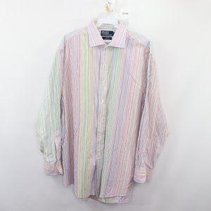 Polo Ralph Lauren Mens 17.5 32/33 Striped Shirt